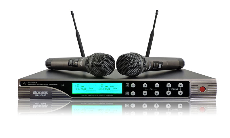 Micro karaoke không dây Bonus MB-1000S cao cấp.