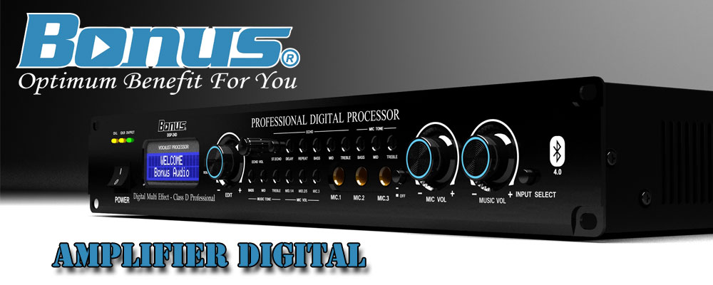 Amplifier karaoke Bonus DSP-24D