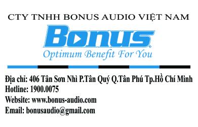 Thông tin liên hệ Bonus Audio